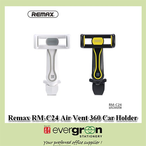Remax RM-C24 Air Vent 360 Rotation Car Holder White grey Black yellow | Shopee Singapore