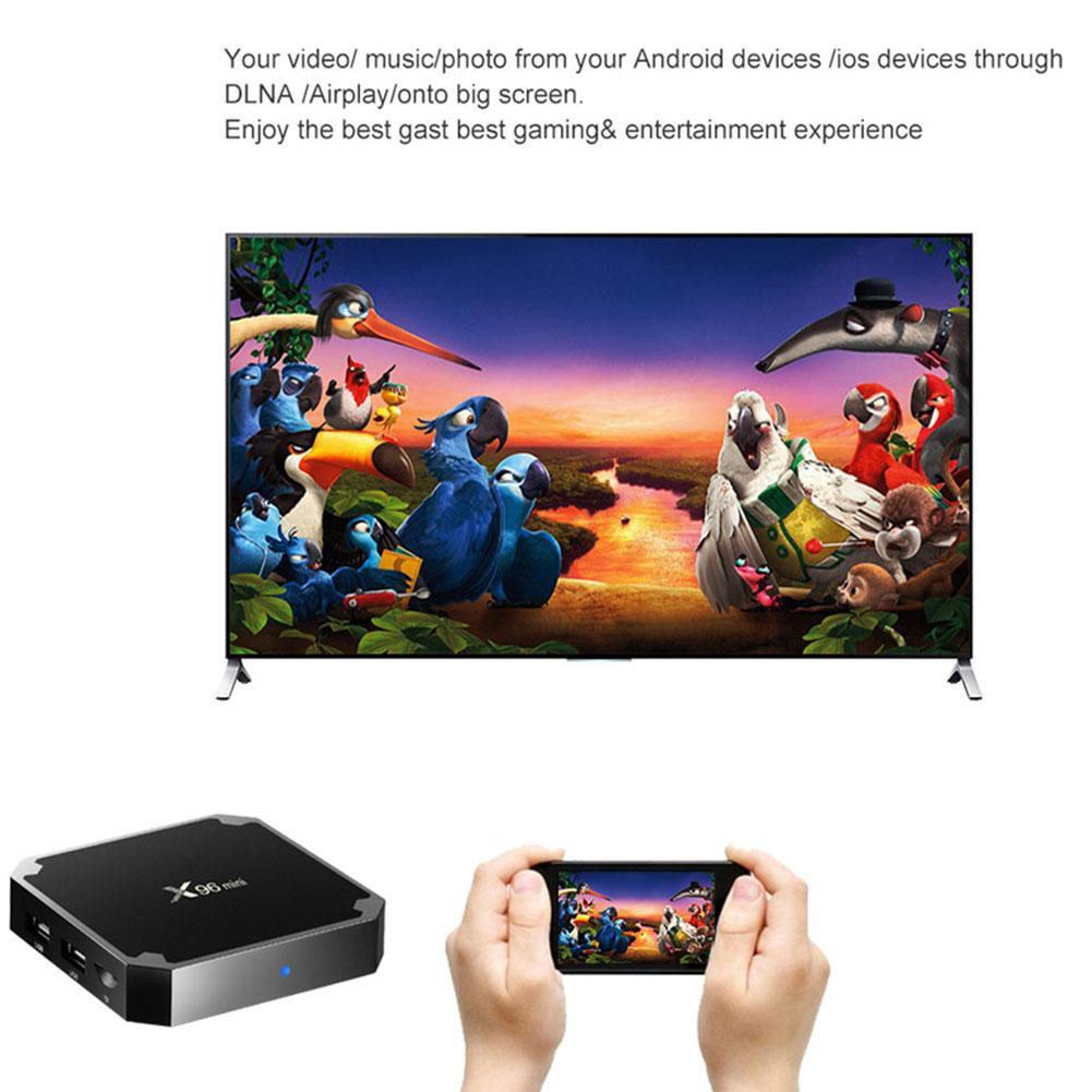 ❉D-LTX96 Mini Smart TV Box Android 7 1 S905W Quad Core 2 4G WiFi Set-top  Box US