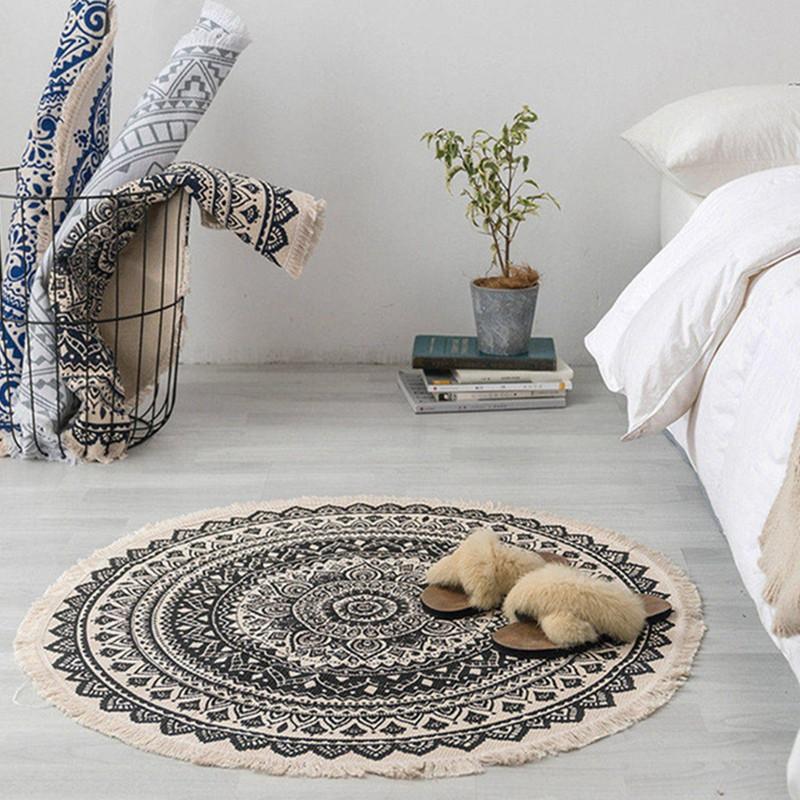 Morocco Round Carpet Bedroom Boho Style, 5 Round Rugs