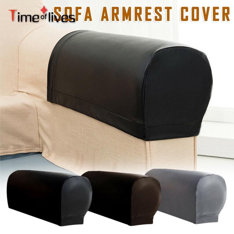 2 Pcs Pu Leather Sofa Armrest Covers, Leather Furniture Arm Protectors