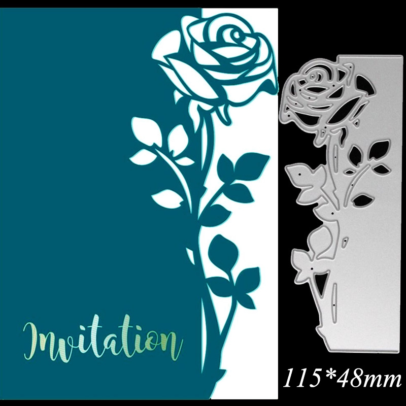 Cutting Dies Rose Leaves border Metal Scrapbook Paper Craft Decoration