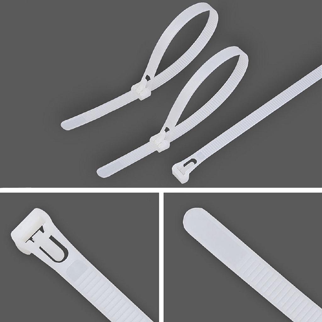 "10x 10/""//8/""//6/"" Releasable Reusable Plastic Zip Cable Tie Wraps Ratchet Ties Wire"