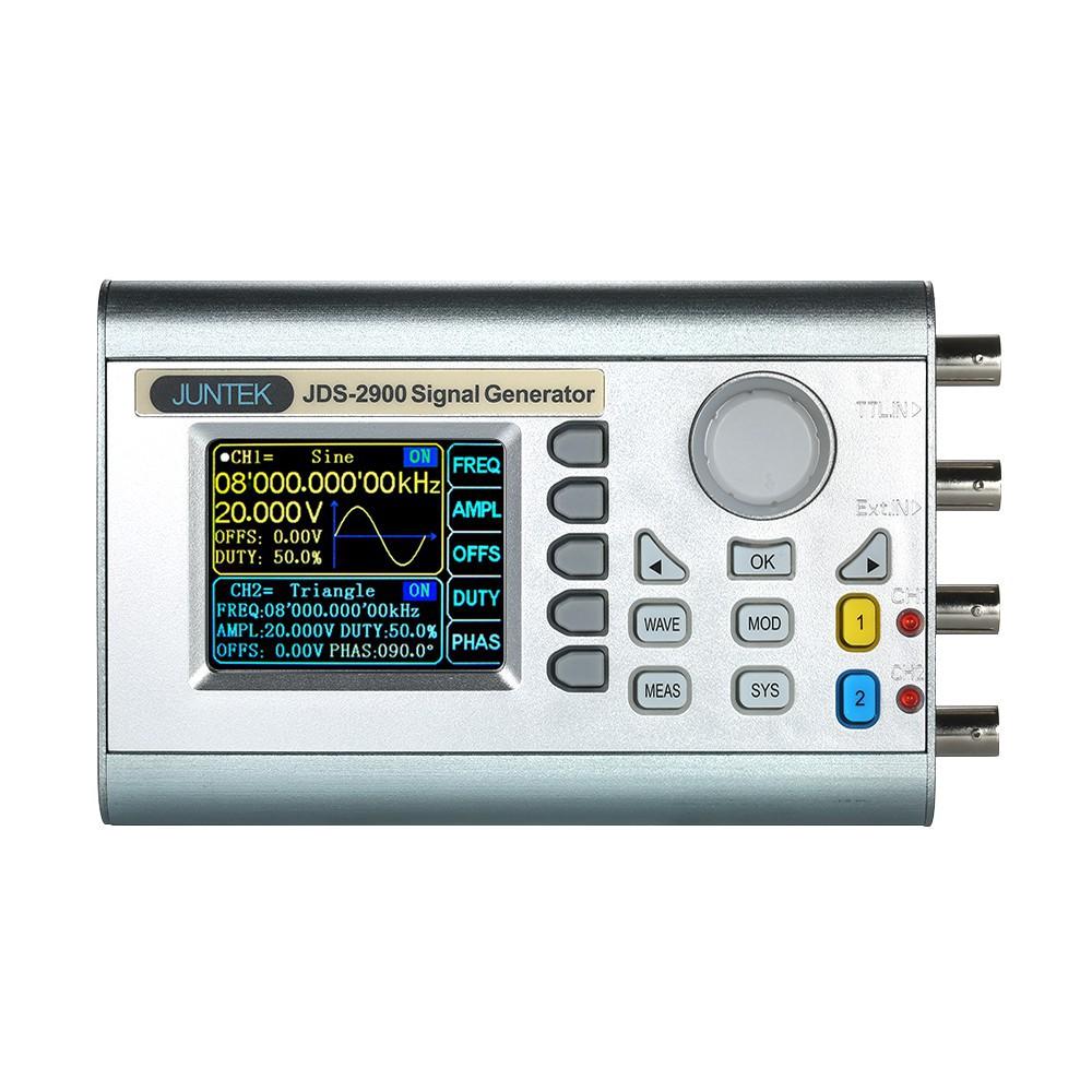 JUNTEK High Precision Digital Dual-channel DDS Signal Generator Counter  2 4in