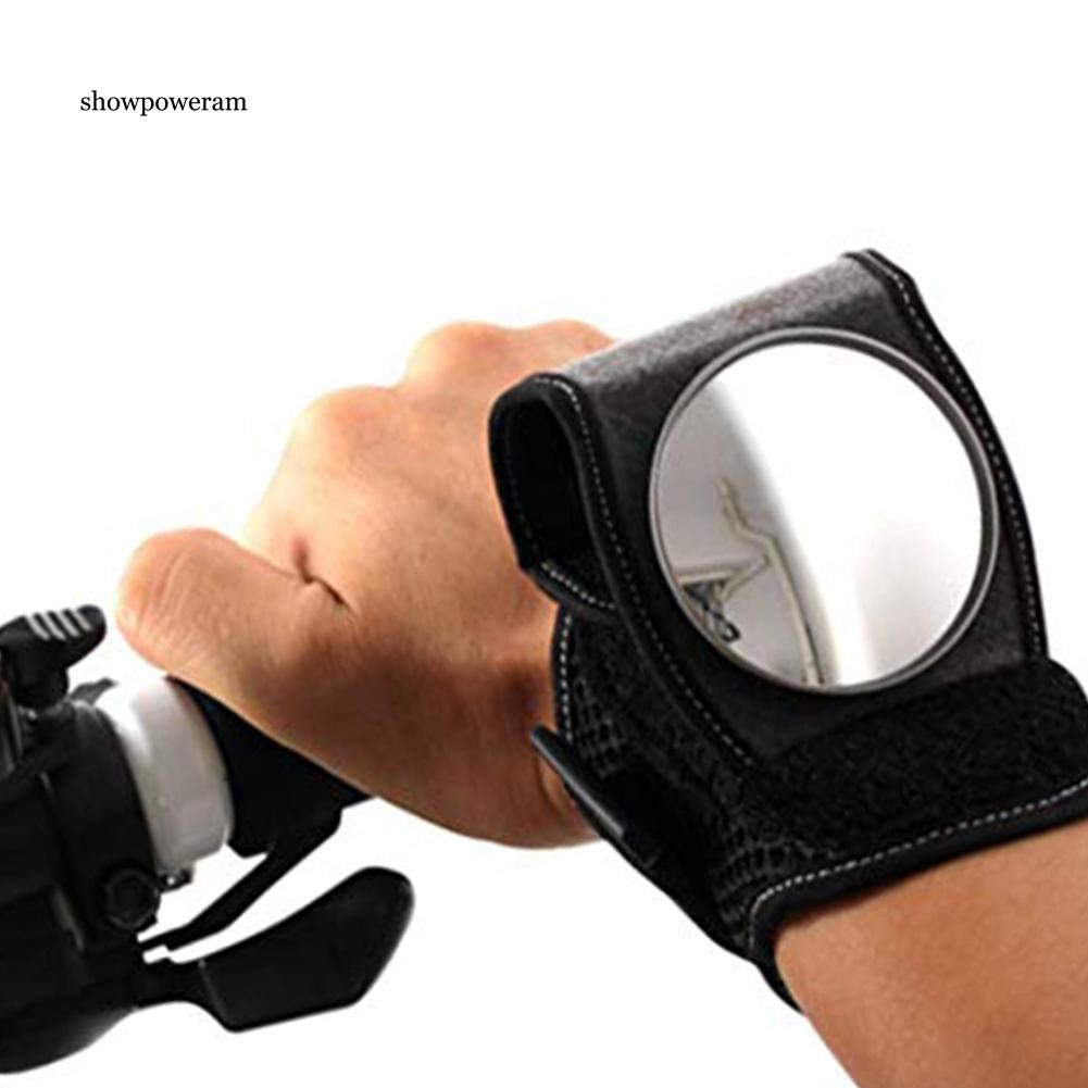 Adjustable Cycling Bike Bicycle Wrist Band Safety Rear View Mirror View Rearview