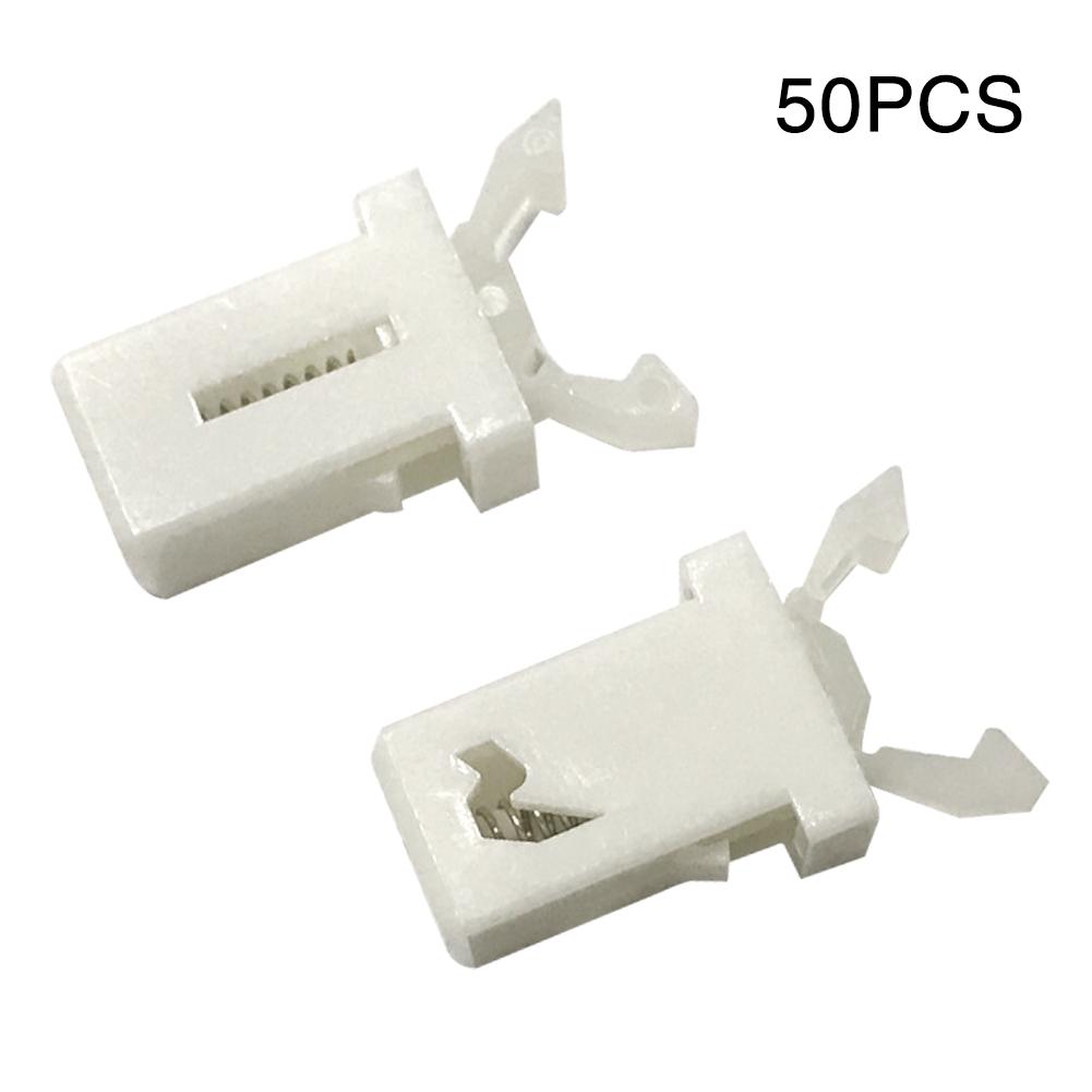 50pcs Hook Safe Automatic Rebound Hooks Ceiling Clips Hangers Clips