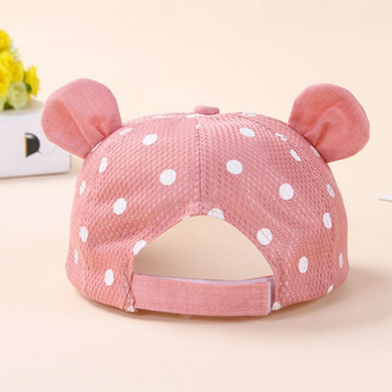 677426bec76 Dots Little Ear Hat Kids Cap Newborn Toddler Baby Girl Boy