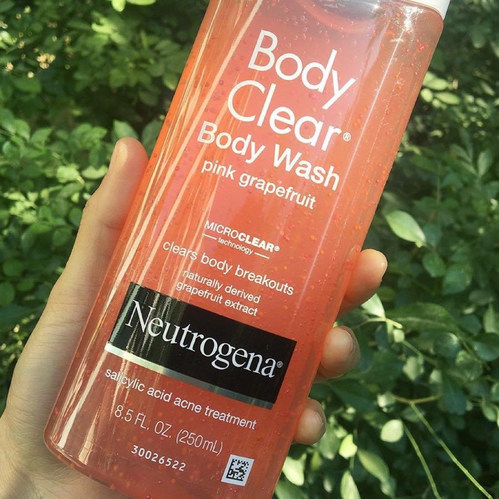 Neutrogena Clear Salicylic Acne Treatment Body Wash Scrub Pink