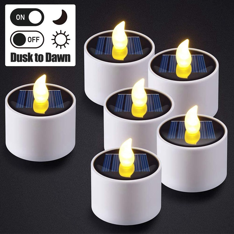 9pcs Solar Tea Lights Rechargeable Led Flameless Tealight Candles For Window Outdoor Camping Emergency Home Decor Shopee Singapore