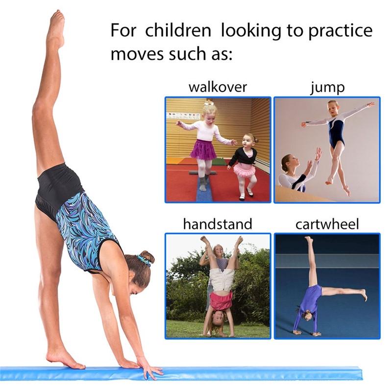 244CM Gymnastics Folding Balance Beam Horizontal Skill Performance Training IT