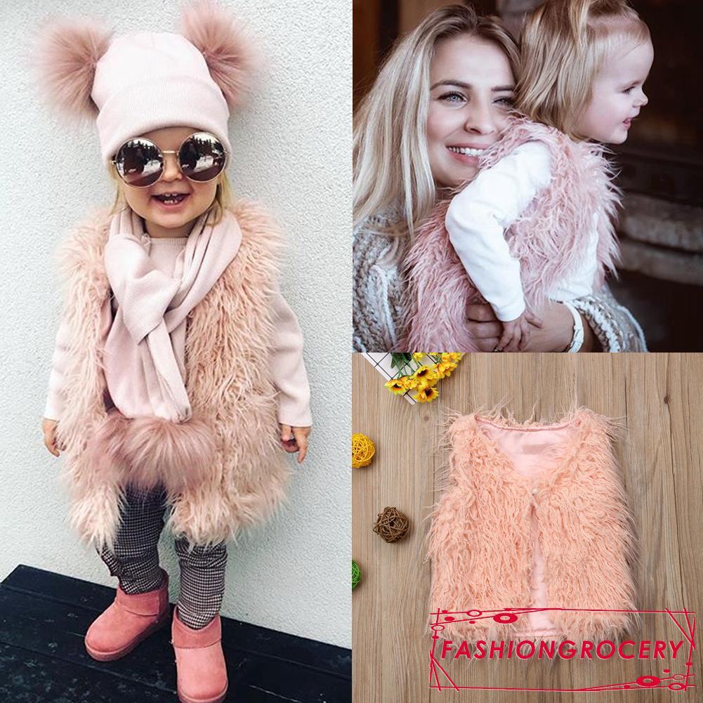 2018 shoes arrives laest technology OFN-Toddler Kids Baby Girls Tops Vest Warm Winter Coat Outerwear Jacket