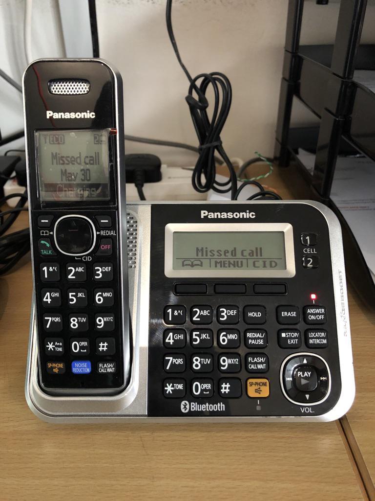 Panasonic KX-TG7871S DECT 6 0 Cordless Phone digital