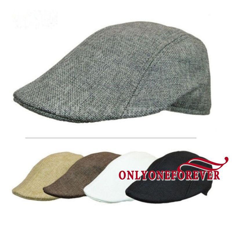 cccadeeb126 Men Newsboy Cap Hat Gatsby Flat Ivy Golf Cabbie Baker Beret Artist ...