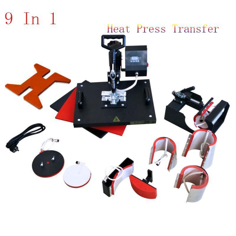 9 In 1 Combo Digital Heat Press Transfer Printing Machine