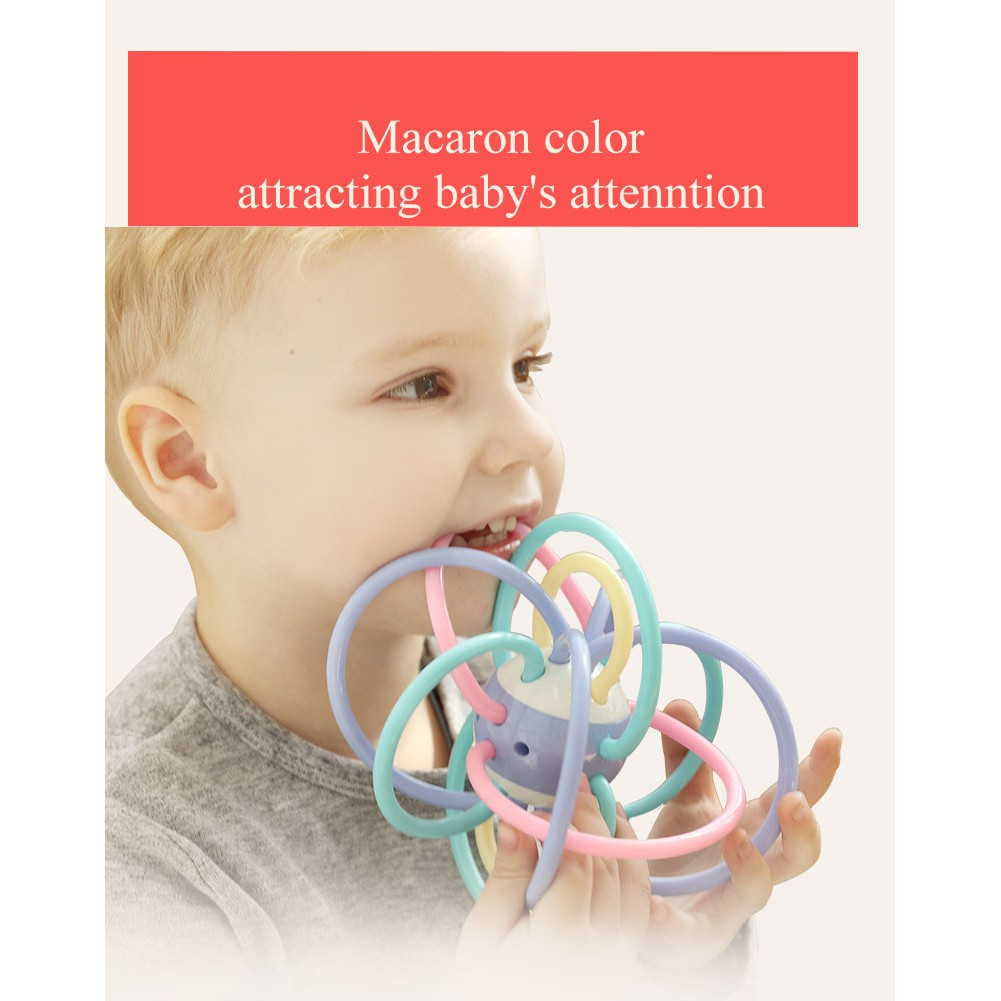 Infant Baby Kids Teether Toy Ball Molar Gum Activity Sensory Molar Puzzle Fun