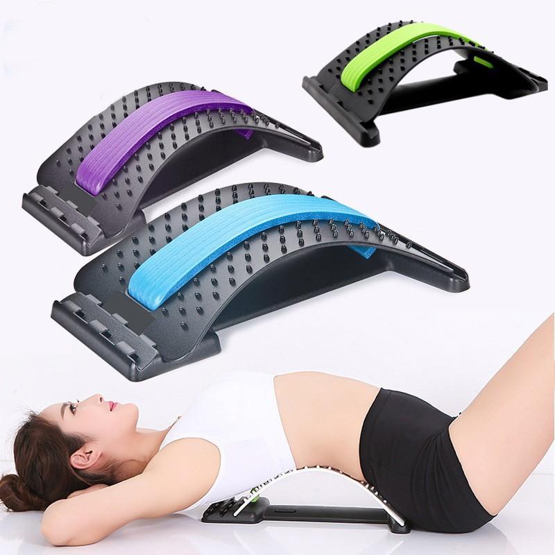 Back Massage Massager Stretcher Fitness Lumbar Support Waist Spine Pain Relief