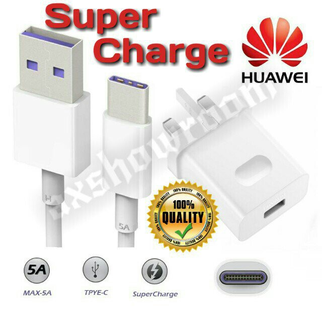 Huawei SuperCharge High Speed Charger & Type-C cable set