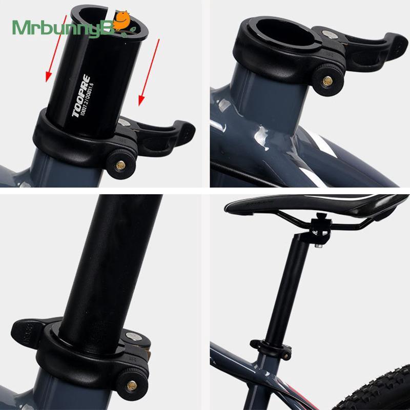Bike Seat post tube Claw Black MTB Shim Reducer Converter Adapter Aluminum Alloy