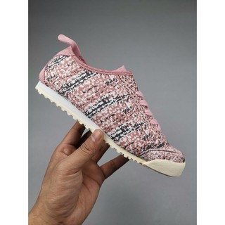 best service 90369 9ea15 Women Onitsuka Tiger Mexico 66 Knit Canvas Shoes Pink ...