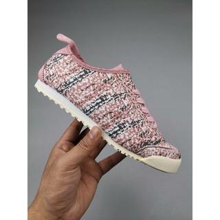 best service f7f0e 4f5e5 Women Onitsuka Tiger Mexico 66 Knit Canvas Shoes Pink ...