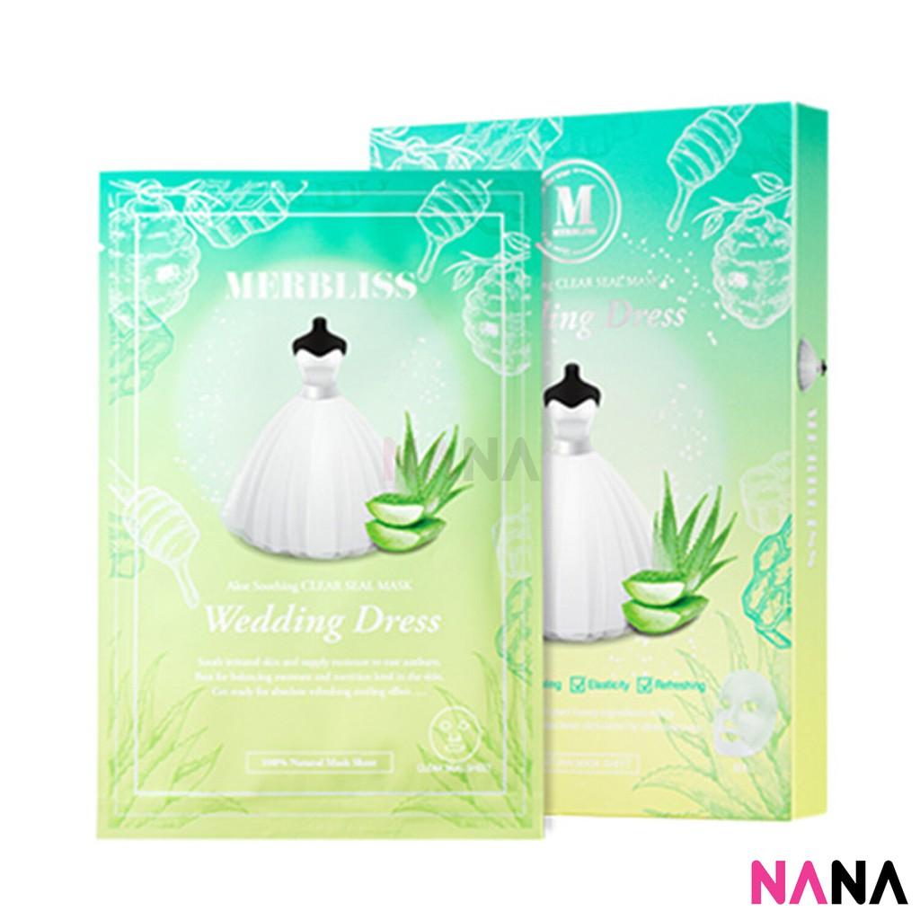Merbliss Wedding Dress Aloe Soothing Clear Seal Mask 5 Sheets Box Secret Key Nature Recipe Pack Tea Tree 20g 3pcs Huohuo Shopee Singapore