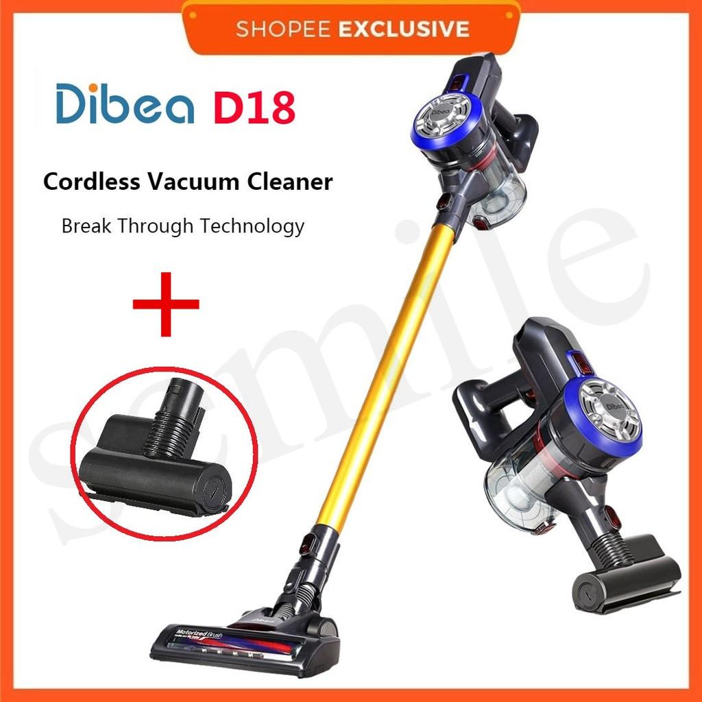 100% Original Dibea D18 Lightweight Cordless Handheld Stick Vacuum Cleaner