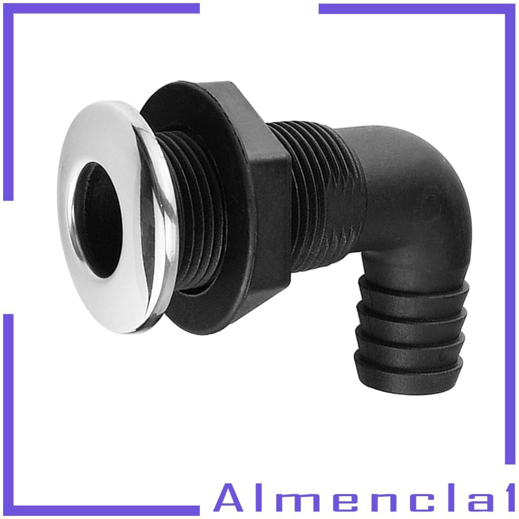 Almencla 2X 1 Black 90/° Nylon Thru-Hull Bilge Pump /& Aerator Hose Fitting for Boats