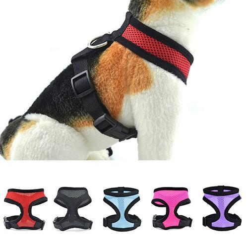 Soft Breathable Adjustable Pet Dog Puppy Walking Vest Car Seat Belt Harness