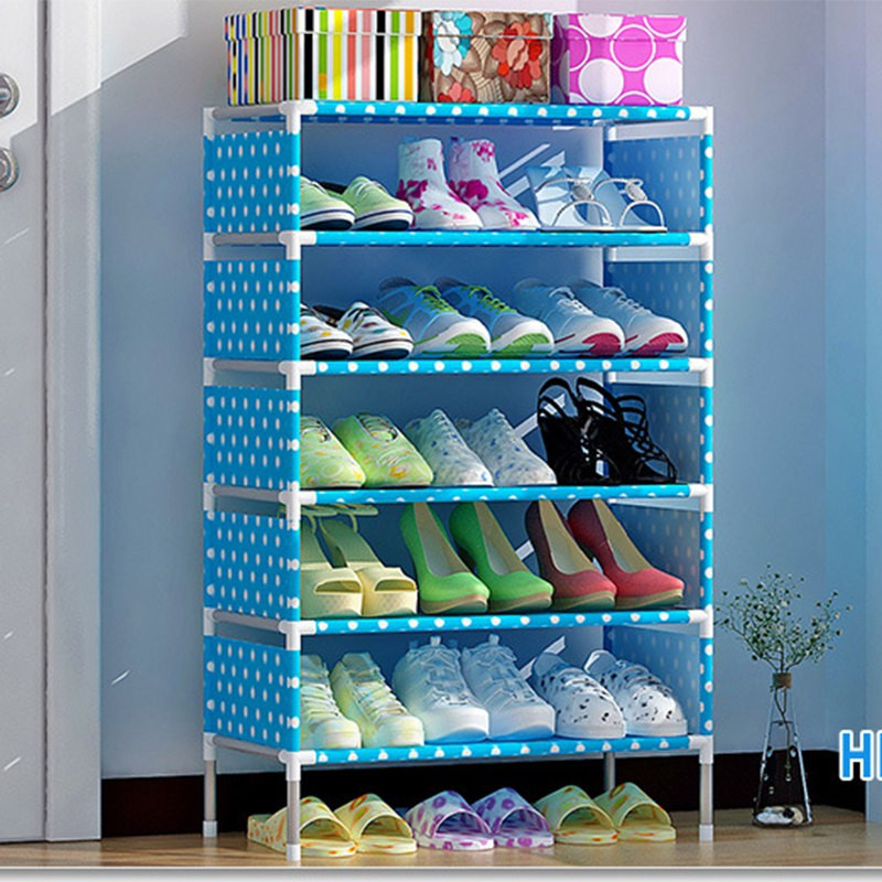 Clothing & Wardrobe Storage Home Storage & Organization 4pcs Home Use Shoe Organizer Modern Double Cleaning Storage Shoe Rack Living Room Convenient Shoebox Shoes Organizer Stand Shelf Vivid And Great In Style