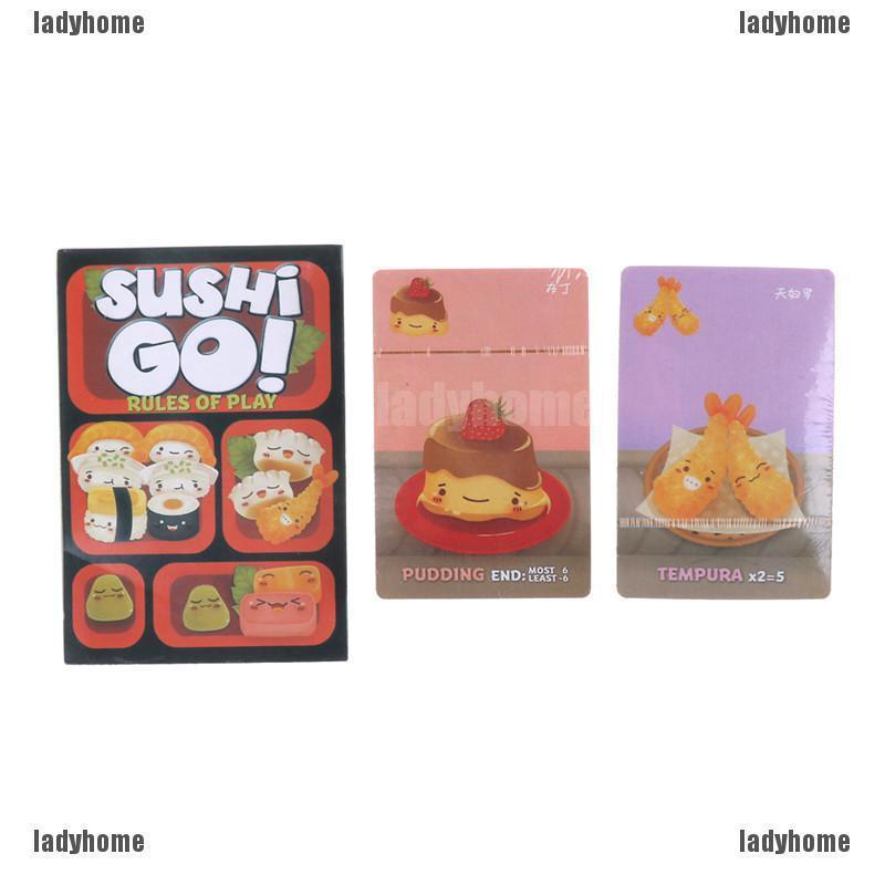 full english version sushi go cards game easy carry