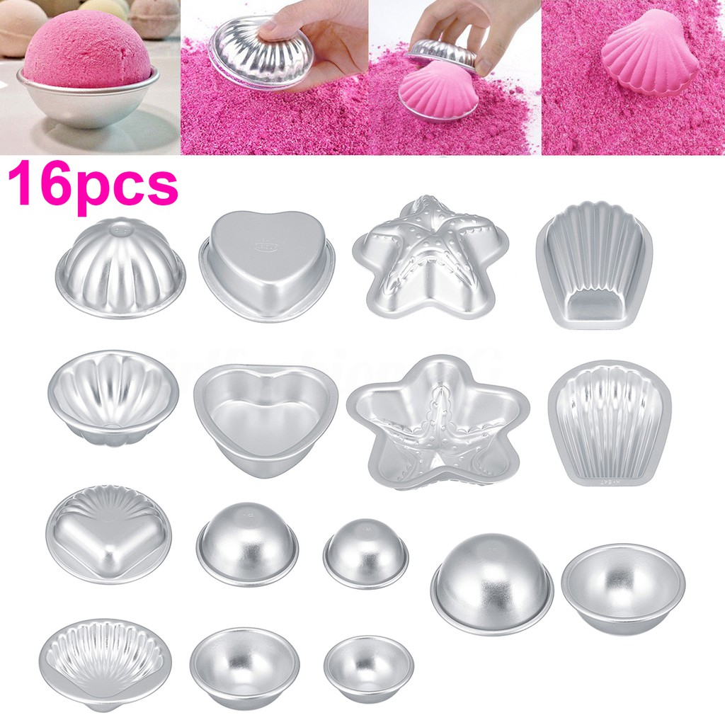 2x Aluminum Round Bath Bomb Mold Mould For DIY Own Fizzles Craft Baking Cake