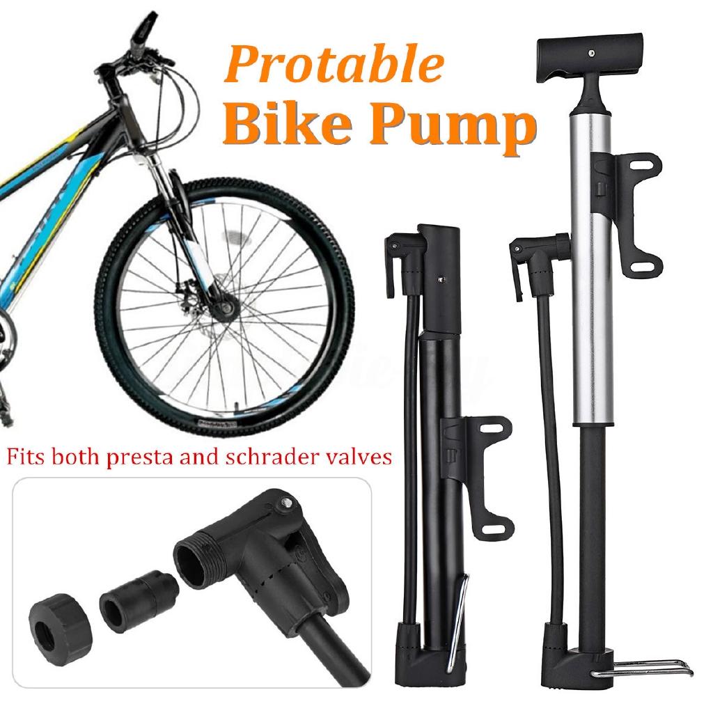 Portable Mini Bike Pump with Gauge 150PSI Mountain BMX Bicycle Tire Inflator New