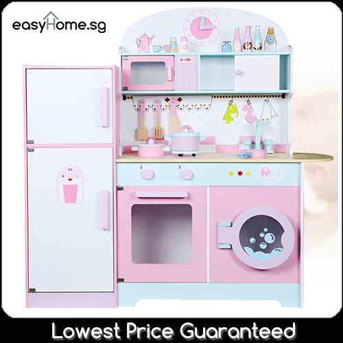 Refrigerator Kitchens Msn18023 Wooden Pretend Role Play Toy