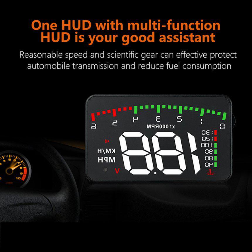 SY] 3 5 Inch Digital HUD Head Up A300 Display Speedometer