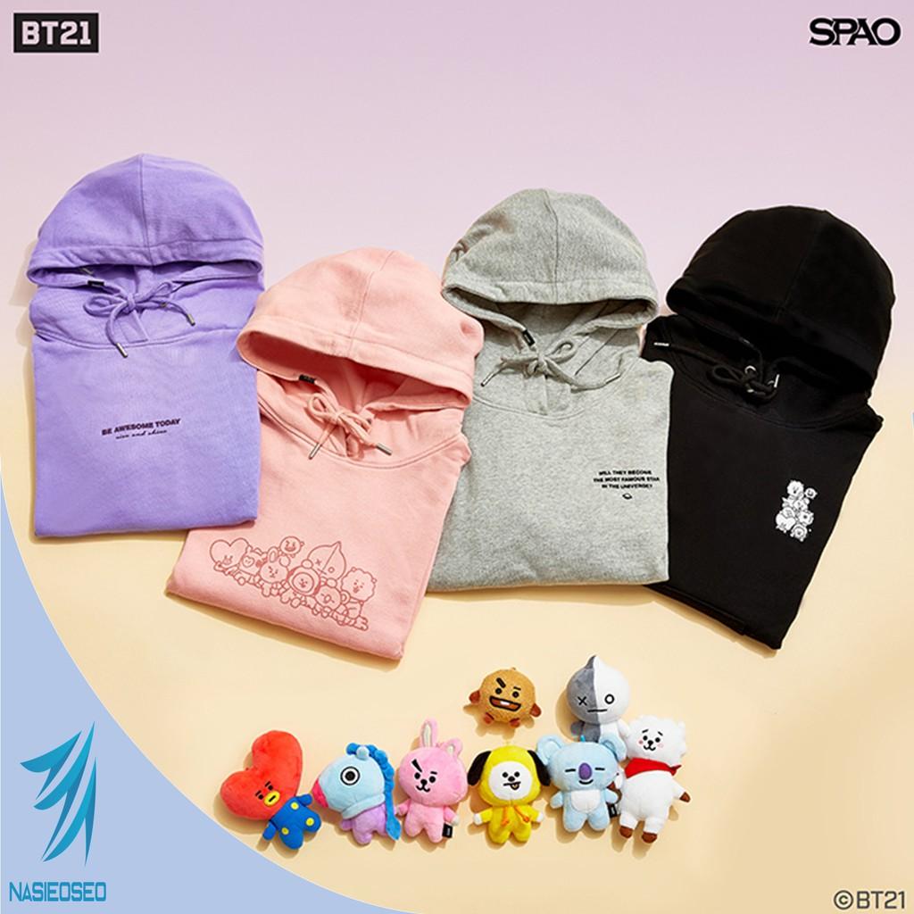 Bts Bt21 Official Authentic Product Slit Hoodie Shopee Singapore