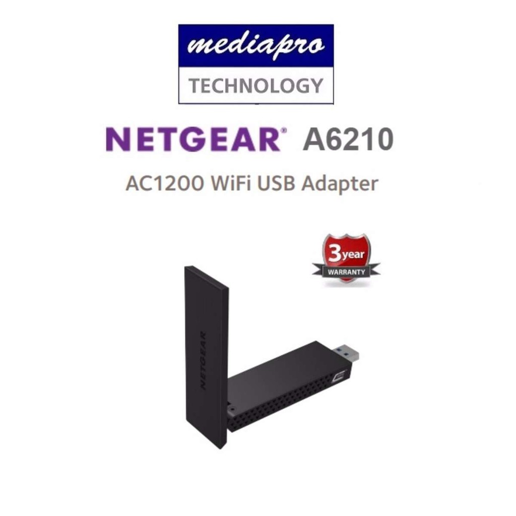 Netgear A6210 AC1200 WiFi USB Adapter - 3 Year Local Netgear
