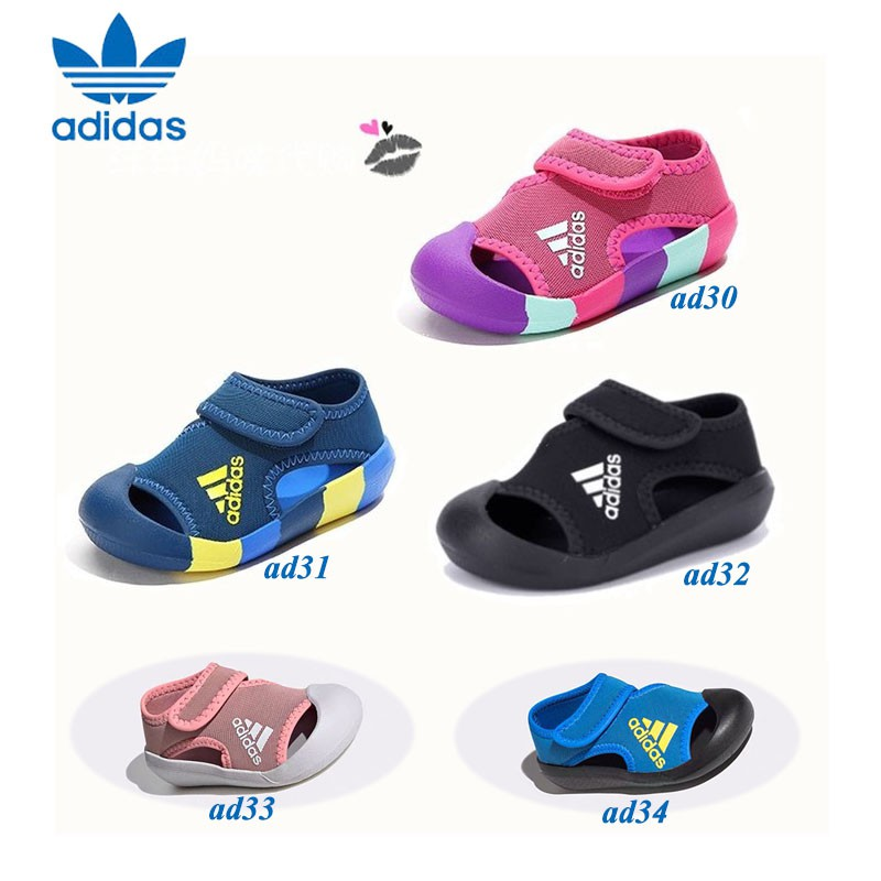 *Ready Stock* Adidas Toe protection sandals kids shoes baby shoes boys shoes girls shoes light breathable shoes comfortable shoes