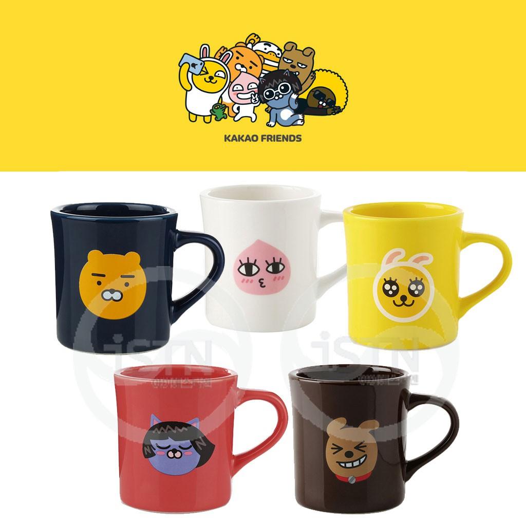 Kakao Friends Face Mug Ceramic Cup Porcelain Cups Travel Coffee Mugs Pottery Korea Cute Gift Shopee Singapore