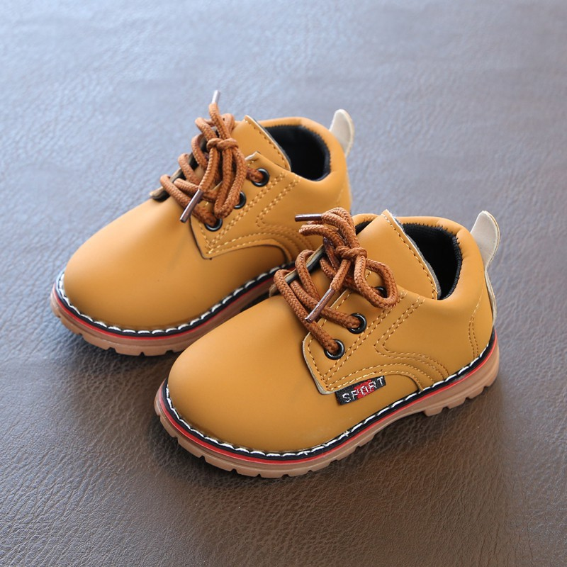 56338039d87 Fashion Girls Leather Martin Boots Kids British Style Boots