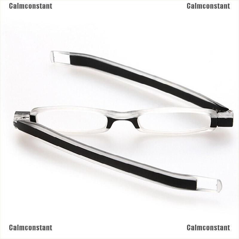 1.0 to 3.0 Stylish Folding Reading Glasses with Pocket-Sized Black Case Compact Foldable Design Lens Variations from