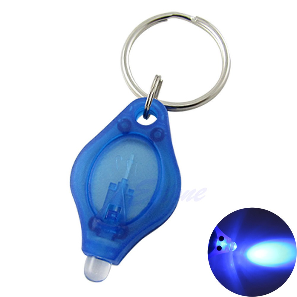 Portable Aluminum Alloy Mini LED Camping Flashlight Torch Keyring Keychain LG