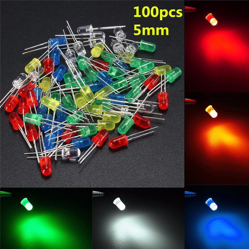 375pcs Emitting Diode LED Bulbs Light Assorted Kit Assortment 2-Pin Bar