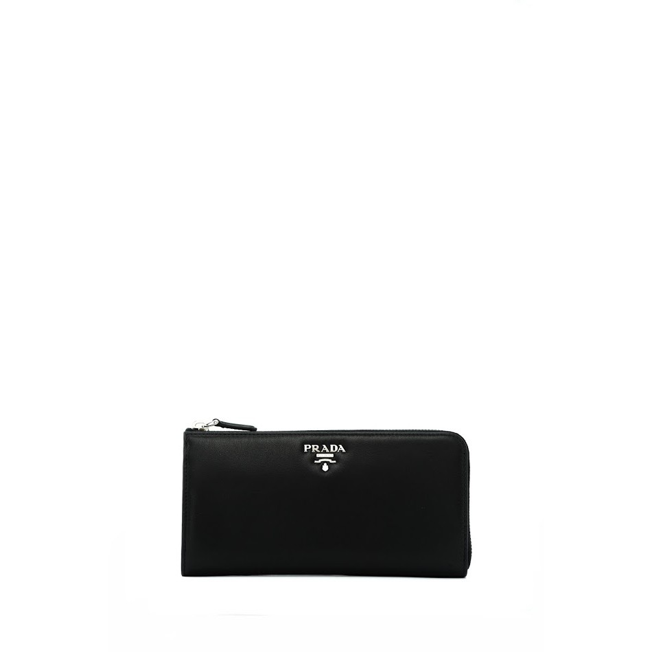 ba78380595ab Prada Saffiano Metal Long Zip Around Wallet (Bluette) | Shopee Singapore