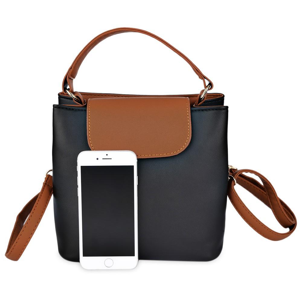 c0df44a294 Guapabien Trendy Button Design Portable Women Tote Shoulder Messenger Bag