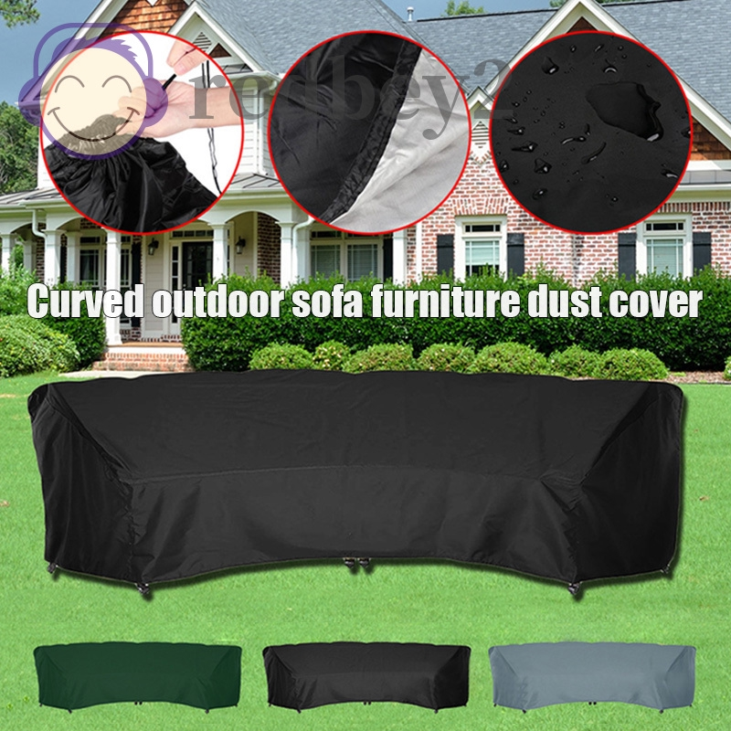 Ry 210d Oxford Cloth Curved Sofa Cover, Curved Patio Furniture Covers