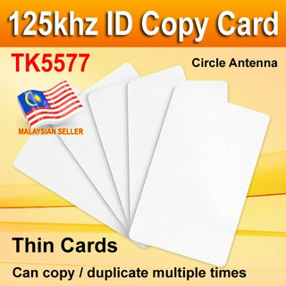 50X 125Khz 13.56Mhz T5577 UID Dual Chip Changeable Proximity RFID Writable Cards