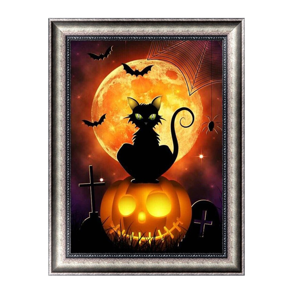 Halloween DIY 5D Diamond Embroidery Painting Cross Stitch Craft Home Decoration
