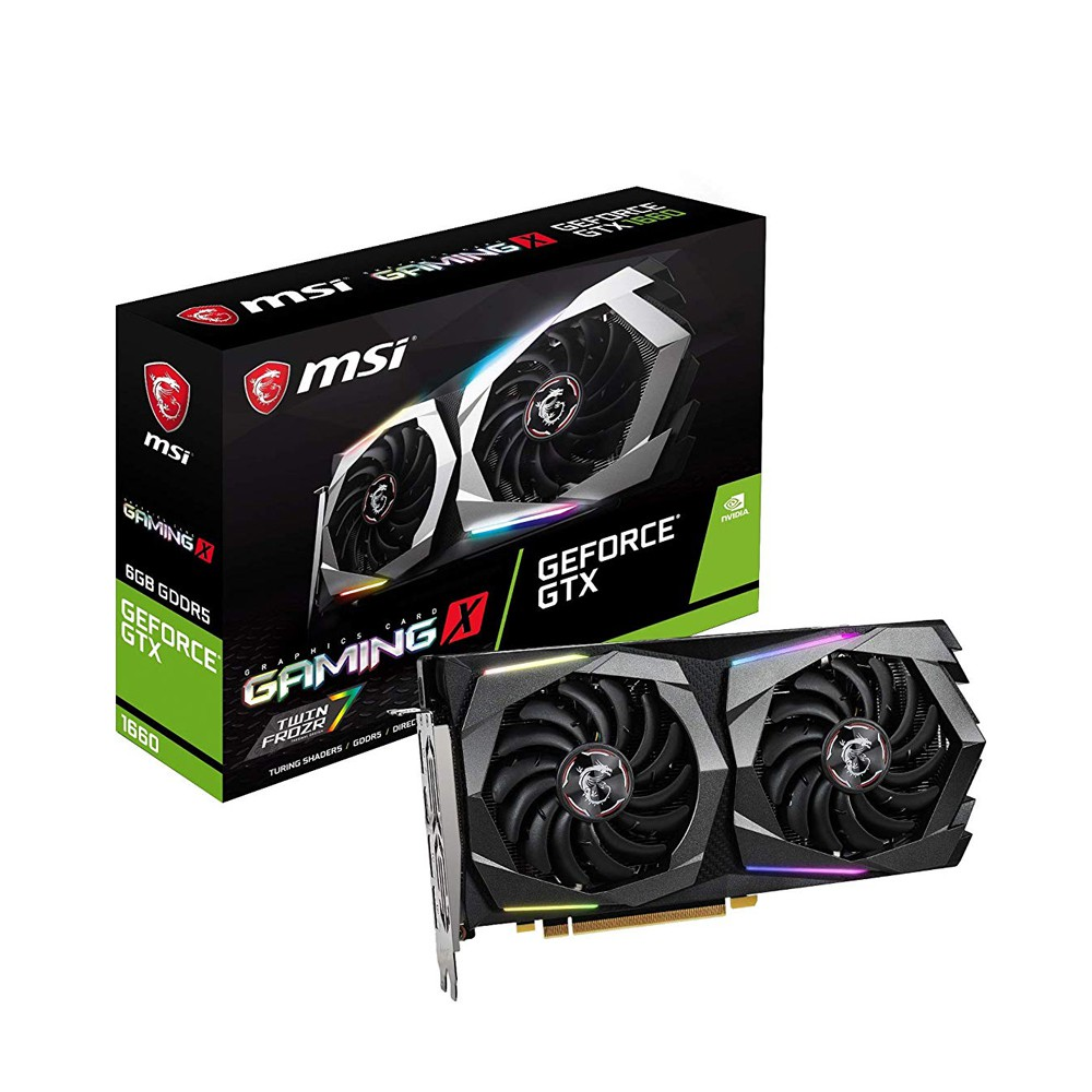 MSI Geforce GTX1660 Gaming X 6G Graphic Card, 6GB GDDR5 912-V379-001 VC-1538
