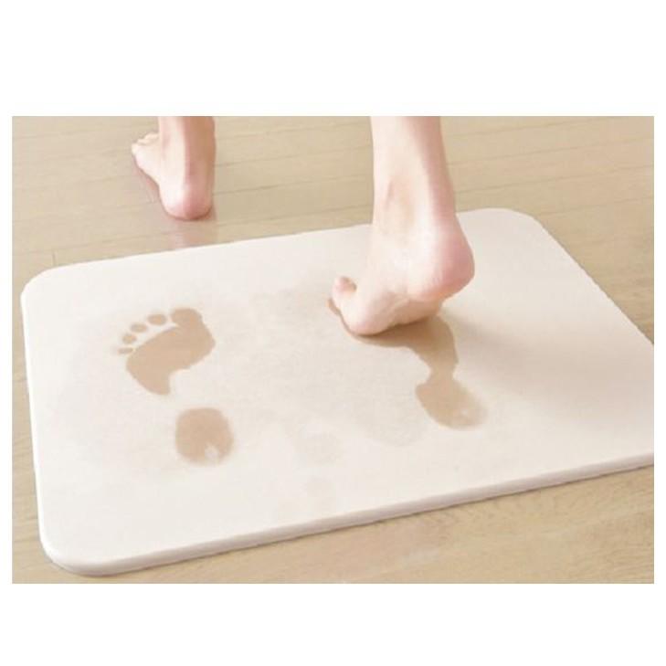 Diatomite Bathroom Mat High Absorbent Anti Skid Floor Mat