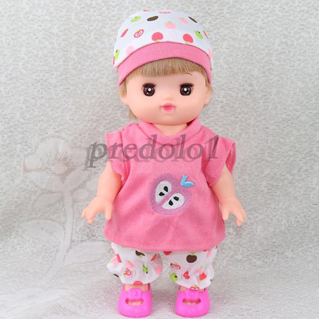 Loungewear Cartoon Dress Skirt Underpants And Hat For 25cm Mellchan Doll