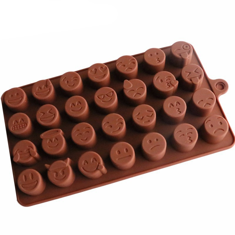 Diy Emoji Qq Cake Chocolate Cookies Ice Cube Soap Silicone Mold Tray Baking Mold Personality Expression Ice Mold Bakeware